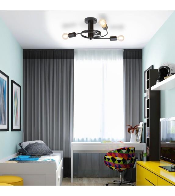 Lustra Carly - 2095 Rabalux, E27, 3x15W, negru mat