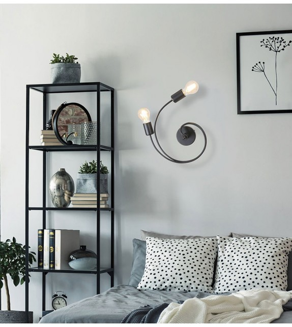 Aplica minimalista CARLY 2094 Rabalux, E27, 2x15W, negru mat