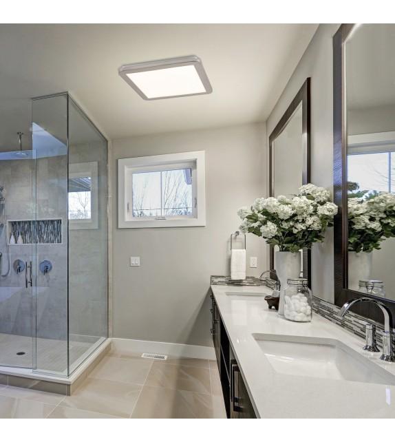 Plafoniera baie JEREMY 5210 Rabalux, LED 24W, 1500lm, argintiu