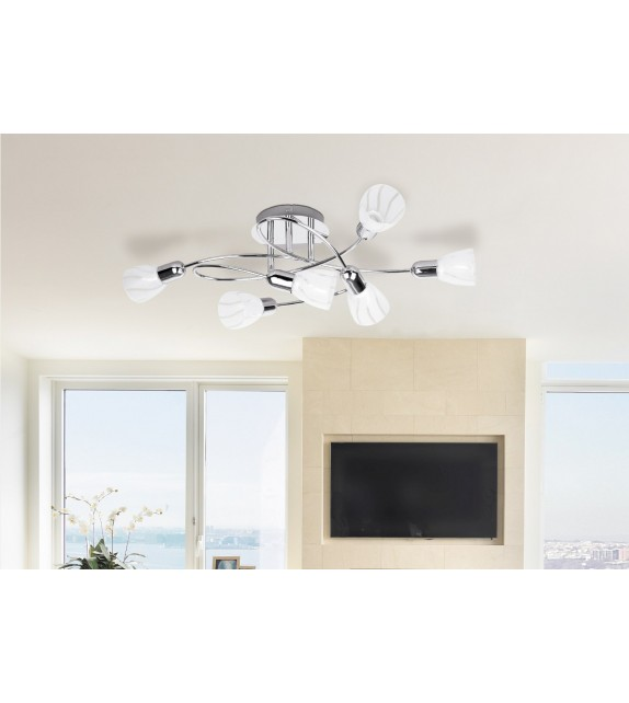 Lustra RABALUX FLAIRE 6059 , E14, 6x40W, crom