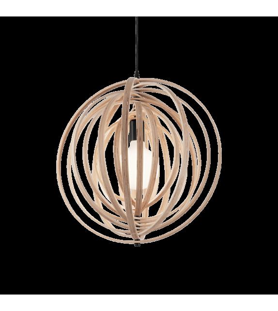 Pendul modern DISCO SP1, IDEAL LUX, D46cm, E27 60W, lemn natur