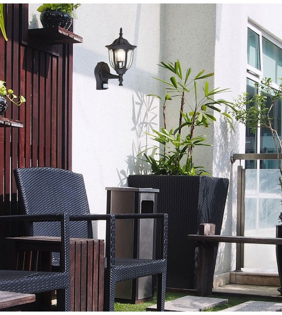Lampa de perete de exterior MILANO 7837 Rabalux, cu senzor, E27, negru