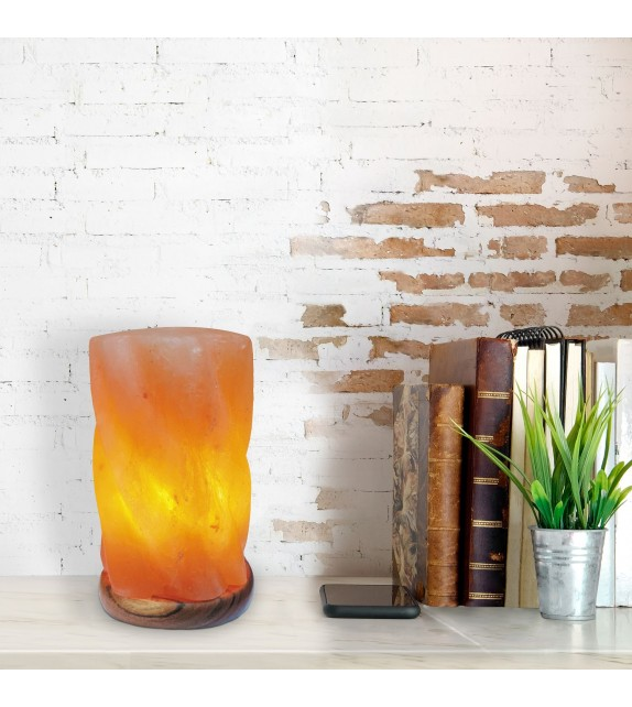 Lampa decorativa HEKLA 2677 Rabalux, E14, 15W, cu sare de piatra