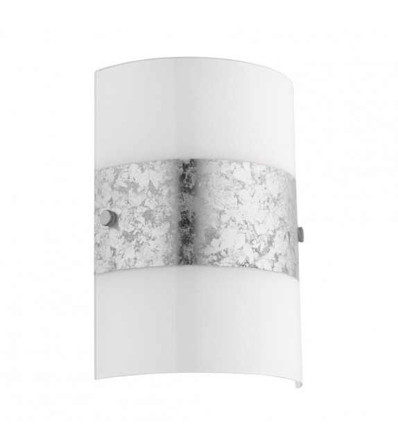 Aplica moderna FIUMANA 97656 Eglo, E14, 40W, alb-argintiu