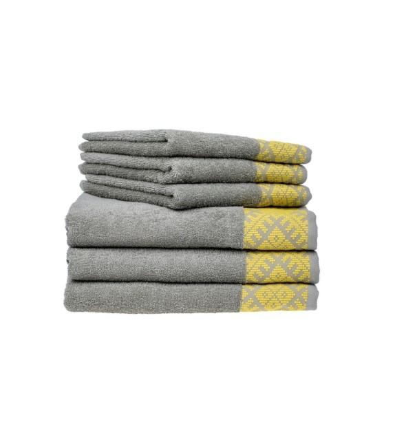 Prosop baie bumbac, pachet 3 bucati, Mendola Wellness, 50x90, 400g/mp, khaki