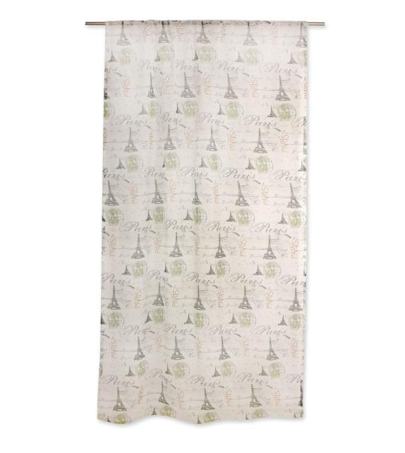 Perdea Tour Mendola Home Textiles, 140x245cm, gri-verde
