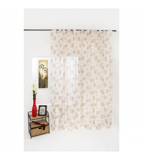 Perdea Blanca Mendola Home Textiles, cu rejansa, roz