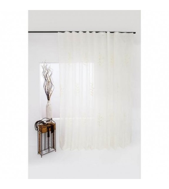 Perdea Nicole Mendola Home Textiles, 300x245cm cu rejansa, bej