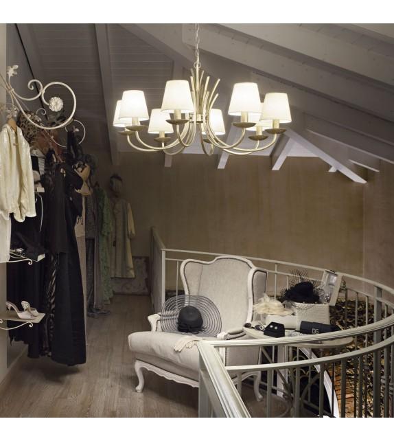 Candelabru SPIGA SP8 168838 Ideal Lux, nichel