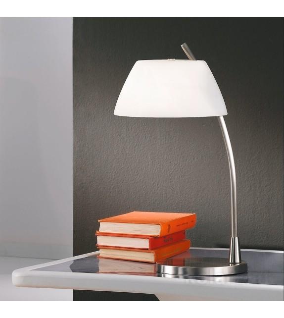 Lampa de birou Malmo - Kolarz, placat nickel, sticla alba