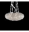 Pendul cu cristale KING SP7 087979 Ideal Lux, crom
