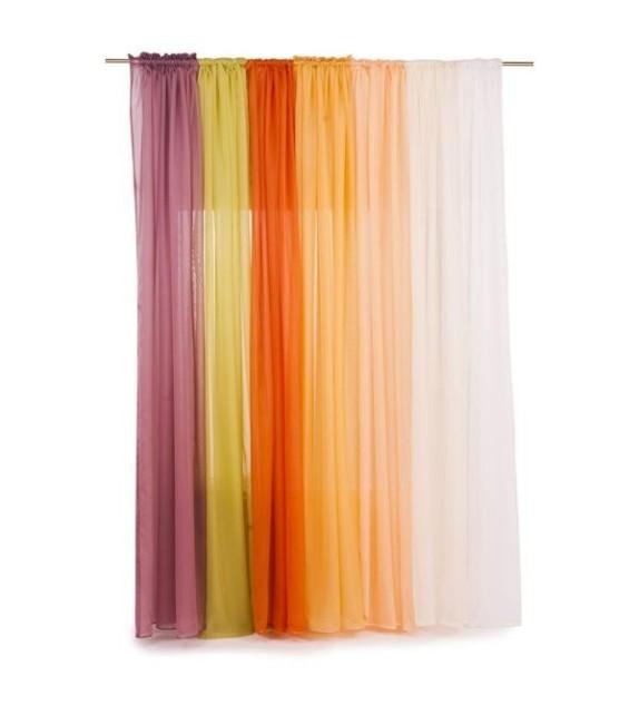 Perdea simpla voal Mendola Home Textiles, 140x245cm cu rejansa