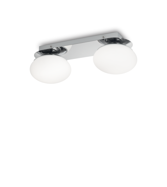 Plafoniera baie EVOLUTION PL2 193137 Ideal Lux, crom-alb