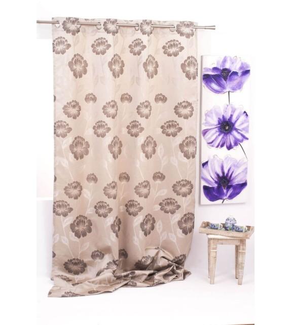 Draperie Izolde Mendola Home Textiles, 140x245cm cu inele, maro