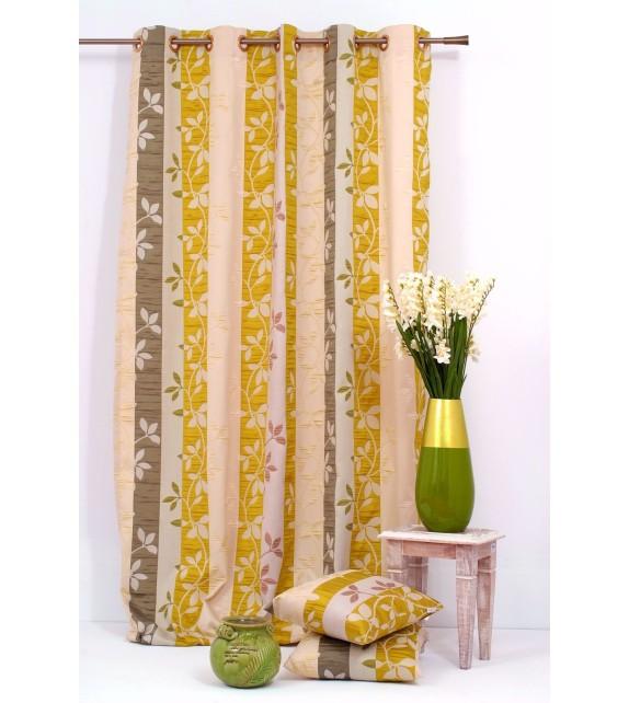 Draperie Gordia Mendola Home Textiles, 140x245cm cu inele, verde