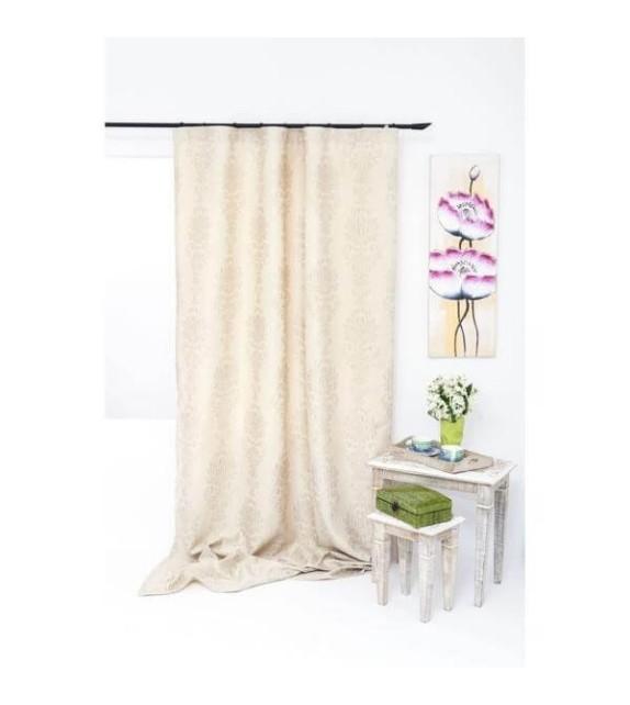 Draperie Impozant Mendola Home Textiles, 140x245cm cu rejansa, bej