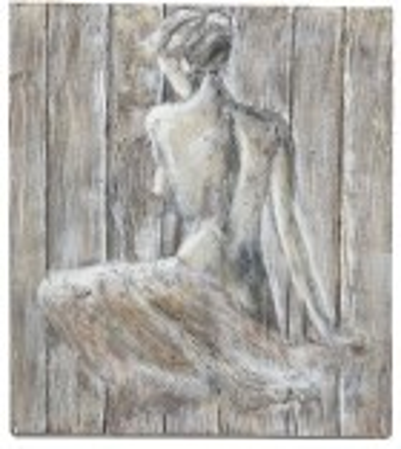 Tablou pictat manual Young Girl, dimensiunea 80x80cm