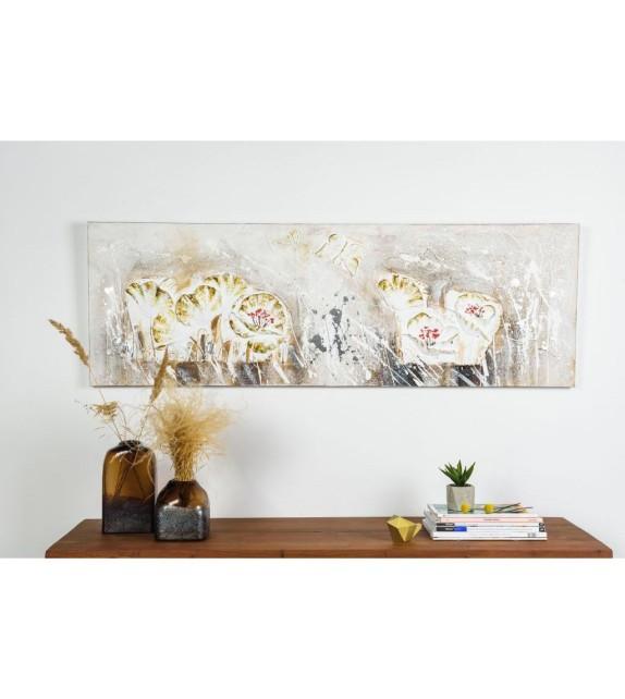 Tablou pictat manual Secret Garden, dimensiunea 50x150cm