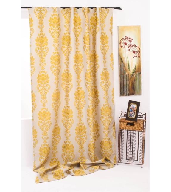 Draperie Impozant Mendola Home Textiles, 140x245cm cu rejansa, galben