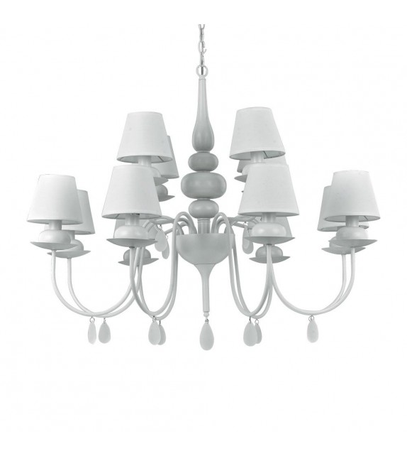 Candelabru BLANCHE SP12 114224 Ideal Lux, alb