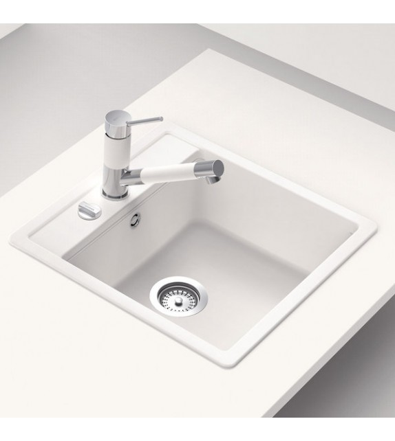 Chiuveta Bucatarie Granit SCHOCK NEMO N-100S Alpina Cristalite, alb