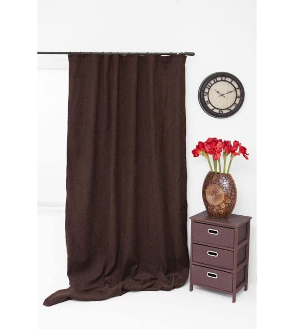 Draperie Jennifer Mendola Home Textiles, 140x245cm, cu rejansa, maro