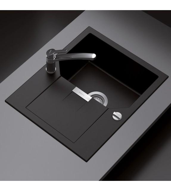 Chiuveta Bucatarie SCHOCK Manhattan D-100XS Nero Cristalite, negru