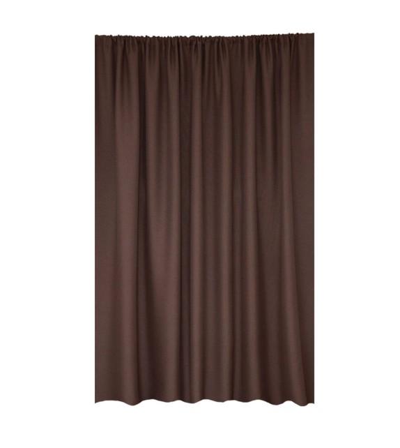 Draperie Butler Mendola Home Textiles, 140x245cm, cu inele, maro