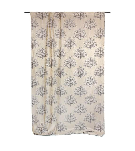 Draperie Erinn Mendola Home Textiles, 140x260cm, cu rejansa, crem-maro