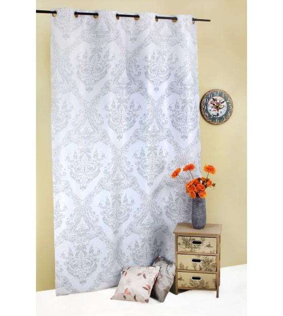 Draperie Atriyum Mendola Home Textiles, 140x245cm, cu inele, gri