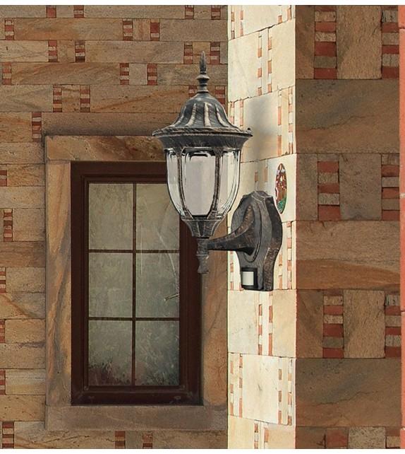 Aplica de exterior cu senzor de miscare Milano 8370 Rabalux, auriu antichizat