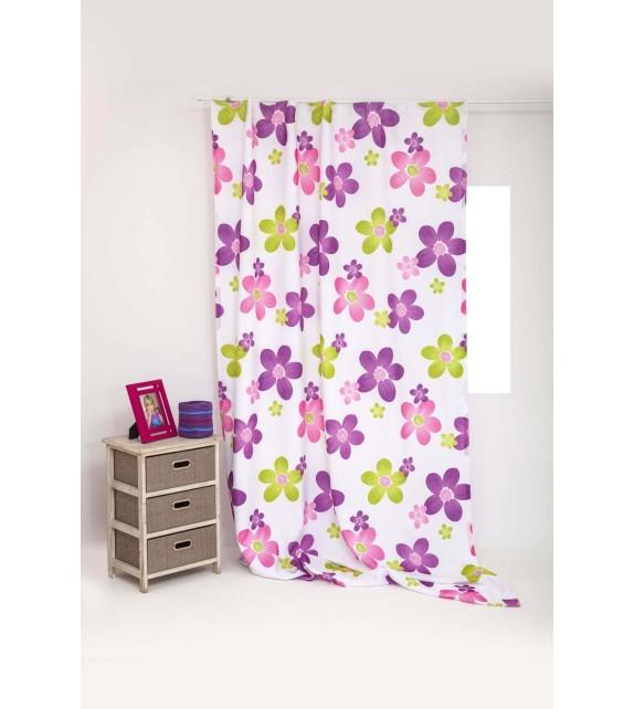 Draperie Silan Mendola Home Textiles, 140x245cm, cu rejansa, mov