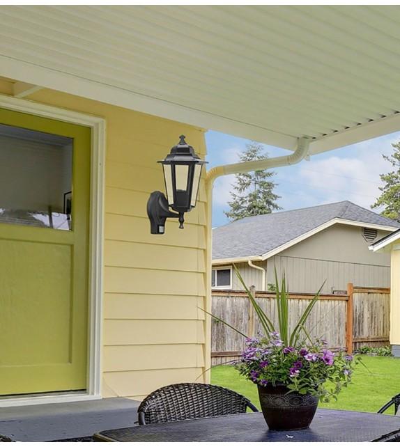 Aplica de exterior cu senzor Velence - 8217 Rabalux, E27, 1x60W, negru