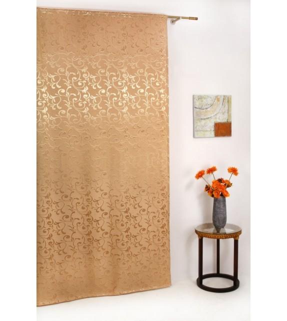 Draperie Glory Mendola Home Textiles, 140x245cm, cu rejansa, bej