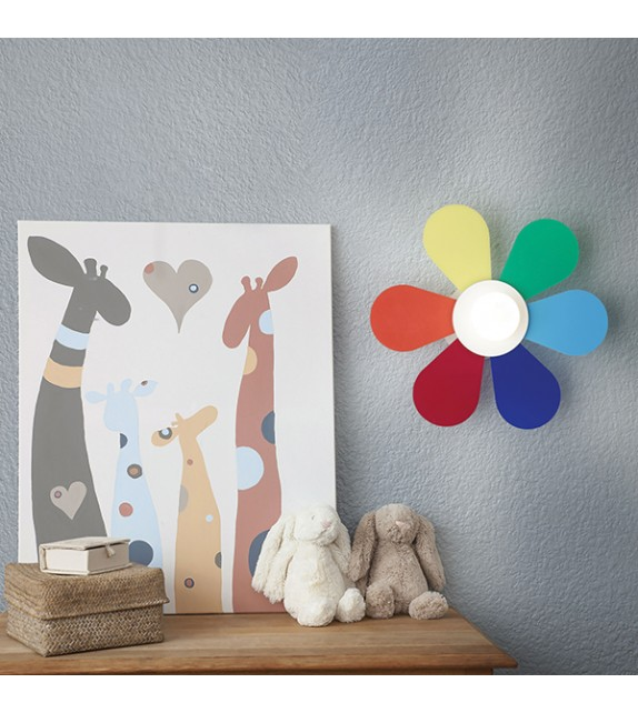 Aplica copii FLOWER AP1 D30 141329 Ideal Lux, multicolora