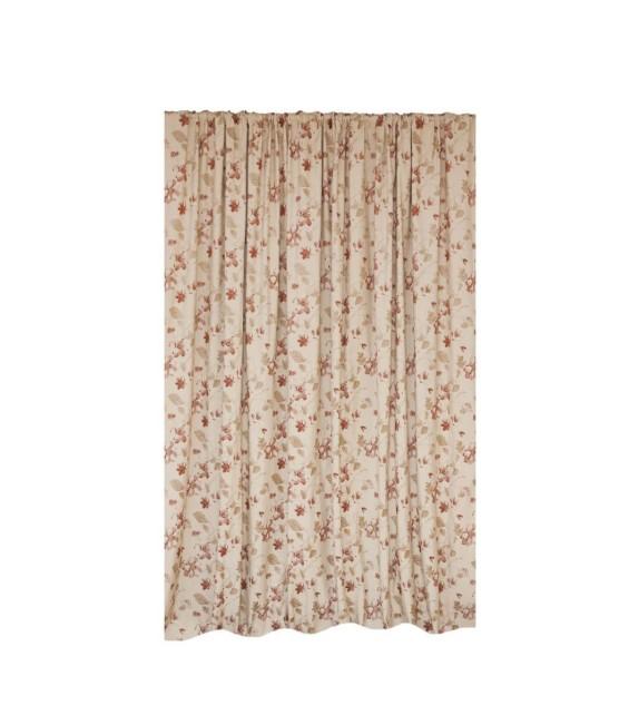 Draperie Filagora Mendola Home Textiles, 140x245cm, cu inele, rosu
