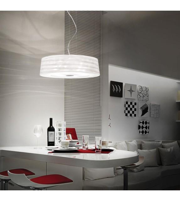 Pendul modern ISA SP6 016535 Ideal Lux, alb