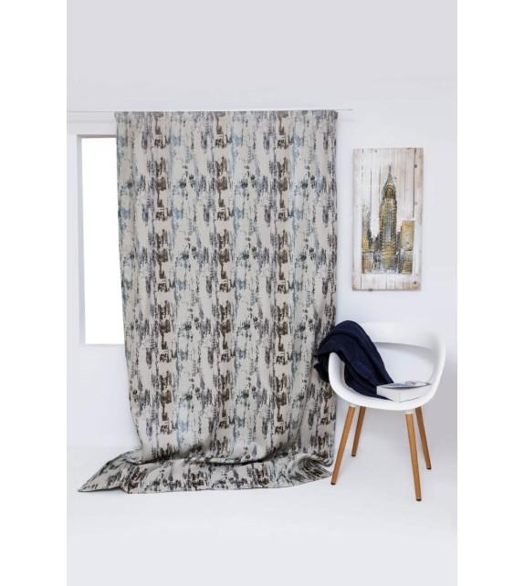 Draperie Fusion Mendola Home Textiles, 140x245cm, cu rejansa, albastru-gri