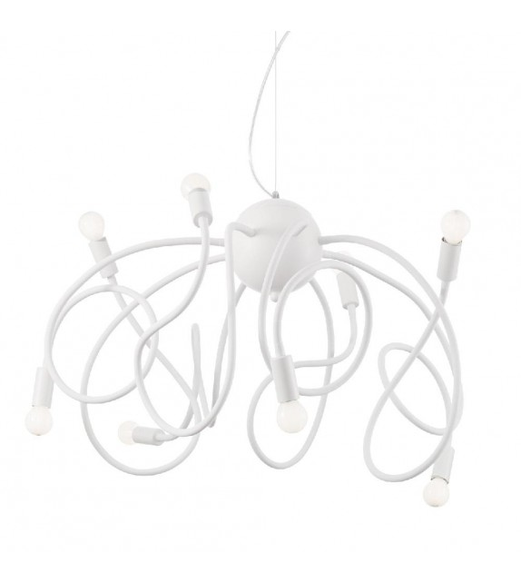 Lustra moderna MULTIFLEX SP8 141893 Ideal Lux, alb