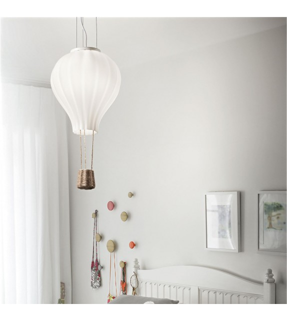 Pendul copii DREAM BIG SP1 179858 Ideal Lux, alb