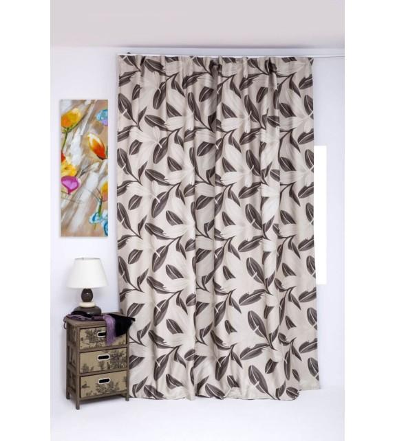 Draperie Nydia Mendola Home Textiles, 210x245cm, cu rejansa, bej