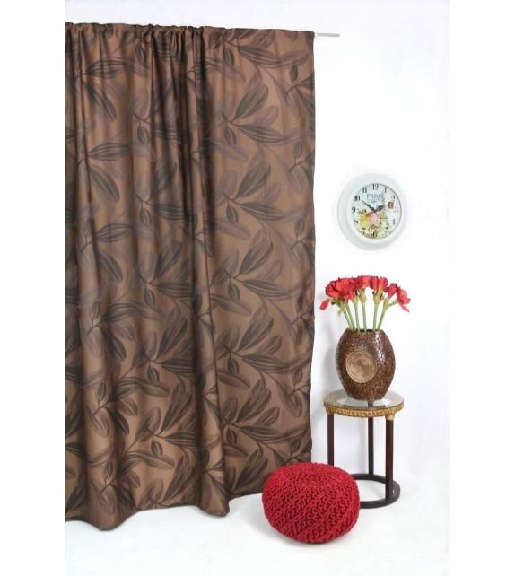 Draperie Nydia Mendola Home Textiles, 210x245cm, cu rejansa, maro