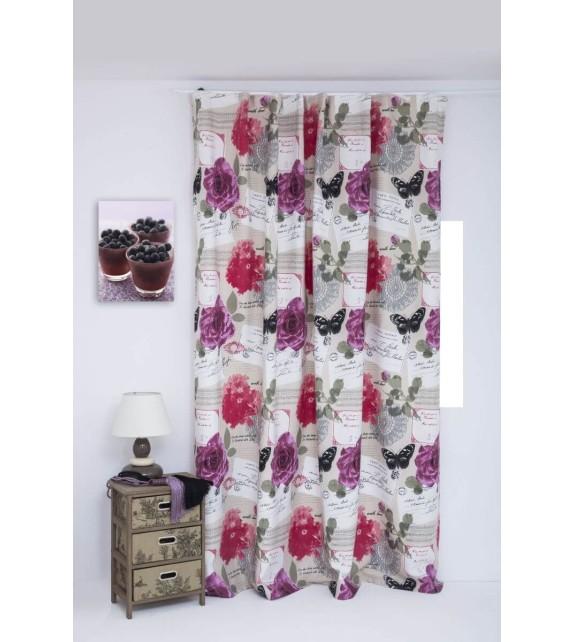 Draperie Secret Mendola Home Textiles, 210x245cm, cu rejansa