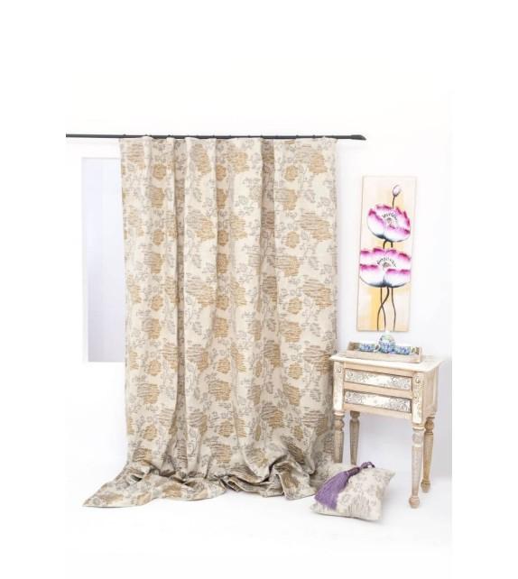 Draperie Victory Mendola Home Textiles, 210x245cm cu rejansa, bej
