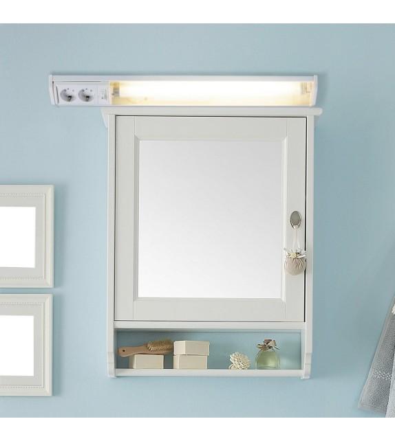 Aplica led pentru baie Bath - Rabalux, 15W, alb, cu priza si intrerupator