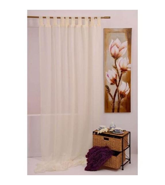 Perdea Bretagne Mendola Home Textiles, 140x245cm, cu bride, crem