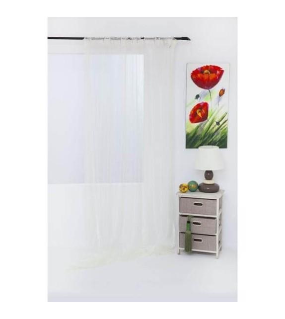 Perdea Tunis Mendola Home Textiles, 140x245cm, cu rejansa, crem