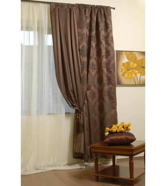 Perdea Signal Mendola Home Textiles, 140x245cm, cu rejansa, crem
