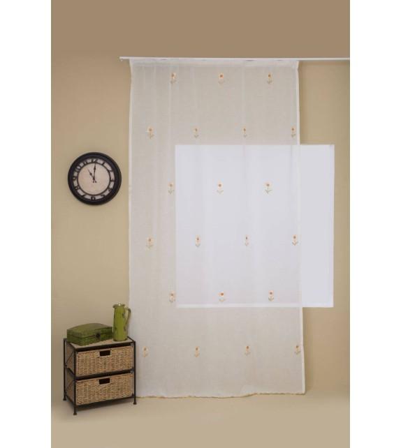 Perdea Daisy Home Textiles, 140x245cm, cu rejansa, aur