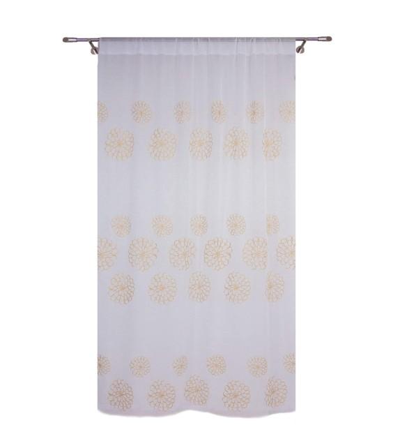 Perdea Pamela Home Textiles, 140x245cm, cu rejansa, crem